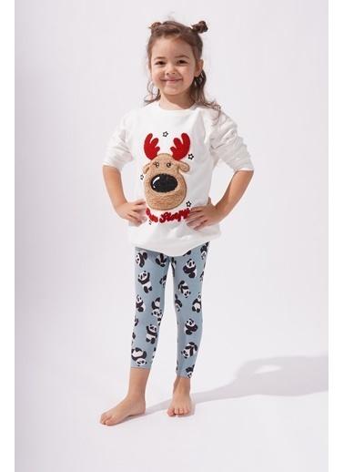 Katia & Bony Panda Desenli Kız Çocuk Tayt Taş